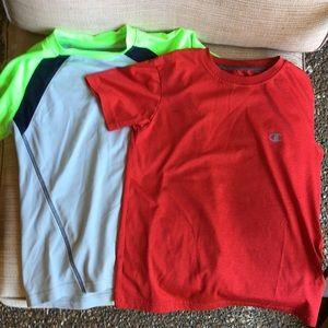 2 boys athletic champion shirts